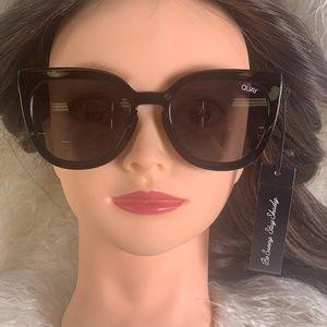 Quay Noosa Modern Cat Eye Sunglasses - Black